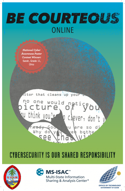 Be Courteous Online Poster